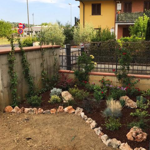 Realizzazione bordature aiuole Valdarno Caiani Vivai Garden